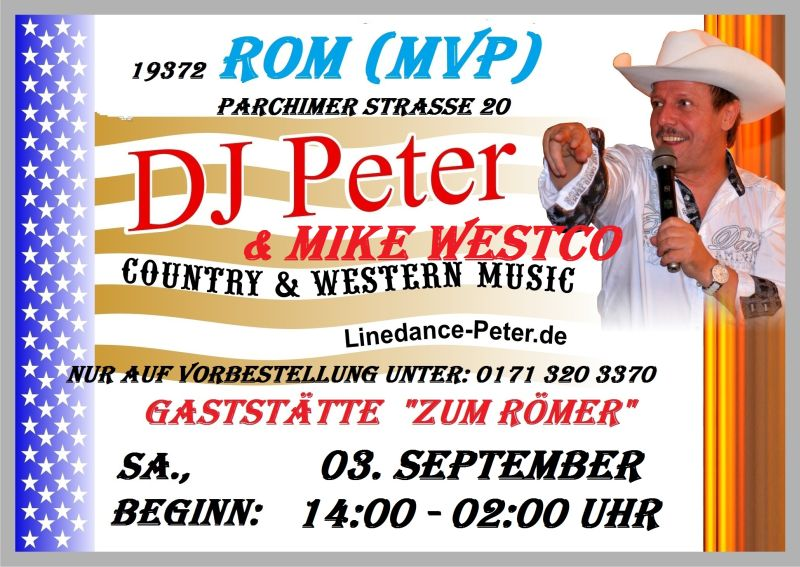 Flyer Rom mit Mike Westco 03 September